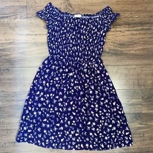 Off the shoulder purple floral Mossimo dress XS